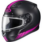 Matte Black/Hi-Viz Neon Pink CL-17SN Streamline MC-8F Snowmobile Helmet w/Dual Lens Shield - 57-19582