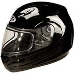 Black GM44S Modular Snowmobile Helmet with Dual Lens Shield - 72-6220XS