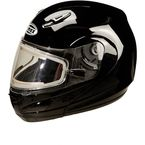 Black GM44S Modular Snowmobile Helmet with Electric Shield - 72-6228L