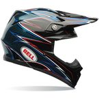 Black/Blue/Red/White Moto-9 Airtrix Shards Helmet - 7060972