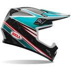 Blue/Black/White/Red MX-9 Airtrix Paradise Helmet - 7061116