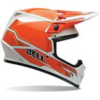 Orange/White MX-9 Blockade Helmet - 7061079