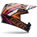 Black/Orange/White/Pink Tagger Designs Scrub MX-9 Helmet - 7061149