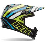 Black/Green/White/Blue Tagger Designs Scrub Psycho MX-9 Helmet - 7061134