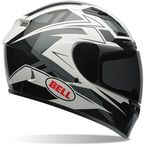 Black/Gray/White Qualifier DLX Clutch Helmet - 7061803