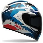 Blue/White/Black Qualifier DLX Clutch Helmet - 7061836