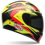 Hi-Vis Yellow/Black/Red Qualifier DLX Clutch Helmet - 7061857