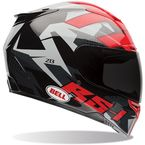 Red/Black/Gray RS-1 Topo Snow Camo Helmet - 7061696