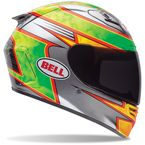 Green/Silver/Yellow Star Carbon Fillmore Replica Helmet - 7061571