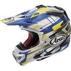 Blue/Yellow/White VX-Pro 4 Tip Helmet - 81-4554