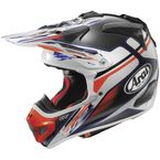 Black/White/Orange VX-Pro 4 Nutech Helmet - 81-2273