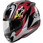 Black/White/Red Vector-2 Nakasuga Helmet - 81-4293
