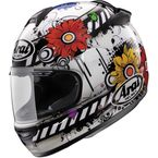 Black/White/Multi Vector-2 Blossom Helmet - 81-4373