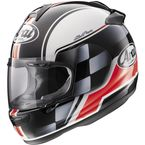 Black/White/Red Vector-2 Contest Helmet - 81-4403