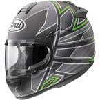 Black Frost/Silver/Green Vector-2 Hawk Helmet - 81-4443