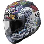 Matte Black/White/Red/Blue RX-Q MT Oriental Helmet - 81-7103