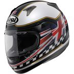Black/White/Red RX-Q Flag UK 2013 Helmet - 81-7513