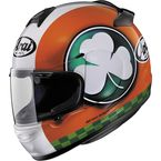 Orange/White/Green Vector-2 Blarney Helmet - 817710