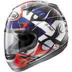 White Black/Blue/Red RX-Q Flame Helmet - 81-7933