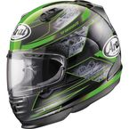 Black/Green Defiant Chronus Helmet - 81-8783