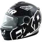 Black/White Fuel Modular Helmet w/Electric Shield