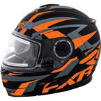 Matte Charcoal/Orange Fuel Modular Helmet w/Electric Shield