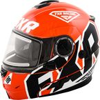 Orange Fuel Modular Helmet w/Electric Shield - 15410
