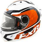 Orange/White Nitro Helmet w/Electric Shield - 15411