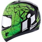 Green/Black Alliance Crysmatic Helmet - 0101-7891