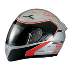 Silver/Red Strike Ops Helmet - 0101-7968