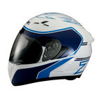 White/Blue Strike Ops Helmet - 0101-7976
