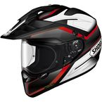 Black/White/Red Hornet X2 Seeker TC-1 Helmet - 0124-1101-06