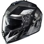 Black/White/Gray IS-17 Blur MC-5 Helmet - 0818-1305-06
