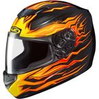 Black/Orange/Yellow CS-R2 Flame Block MC-7 Helmet - 0812-2007-06