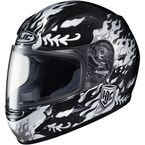 Youth Black/White/Gray CL-Y Flame Face MC-5 Helmet - 55-1952