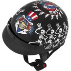 Grateful Dead Dancing Skeletons Half Helmet - 645319