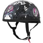Womens Black/Pink/White Grateful Dead Flying Steal Your Face Half Helmet - 645338
