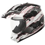 Flat Black/White GM11D Adventure Dual Sport Helmet - 72-7031L