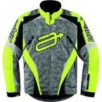 Hi-Viz Yellow/Camo Comp 7 Jacket - 3120-0988