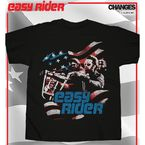 Flag Cut Out T-Shirt - 07-301-3BK-L