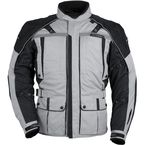 Womens Silver/Black Transition 3 Jacket - 8777-0307-74