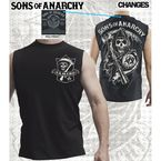 SAMCRO Shield Muscle T-Shirt - 28-520-144BK-S