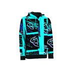 Cyan Splatter Zip-Up Hoody - 3050-1864