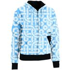 Womens Blue Harper Zip-Up Hoody - 3051-0574