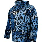 Blue/White Grind Disturbed Traction Tri-Laminate Hoody