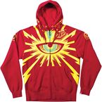 Red Cyclops Zip-Up Hoody - 3622-0410