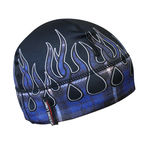 Blue Flannel Flame Gas Cap Beanie - GCBFLX