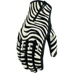 Womens Zebra Short Catwalk Gloves  - 3302-0312