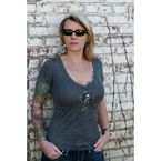 Womens Sick Boy Burnout V-Neck T-Shirt - LGVBOT-S