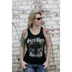 Womens Rhinestone Studded Sick Boy Wife Beater - LRSBWB-XL